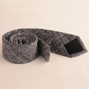 Blend Linen Grain Handkerchief Neck Tie Set -