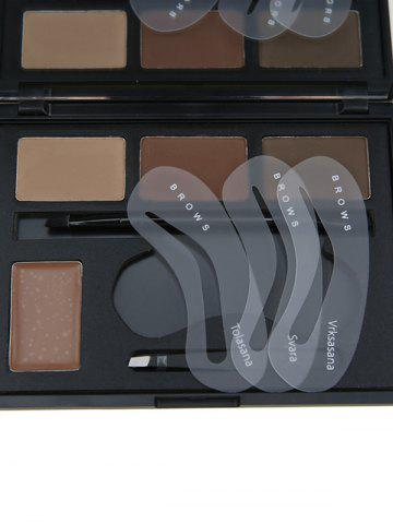 Outfit 4 Color Matte Eyebrow Beauty Makeup Kit - #01  Mobile