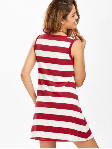 Outfits Casual American Flag Patriotic Tunic Mini Dress - S COLORMIX Mobile