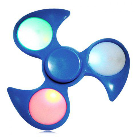 Discount Anti-Stress Toy Fidget Spinner with Colorful Flashing LED Lights BLUE
