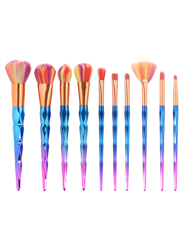 Unique MAANGE 10Pcs Conical Gradient Color Makeup Brushes Set - COLORFUL  Mobile