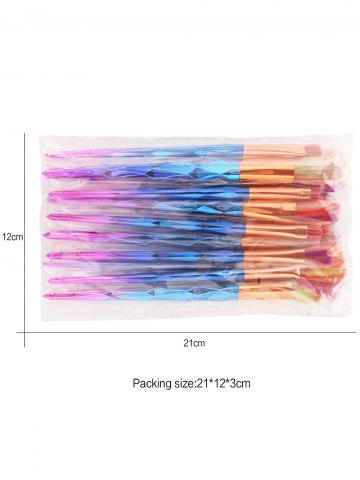 Shop MAANGE 10Pcs Conical Gradient Color Makeup Brushes Set - COLORFUL  Mobile