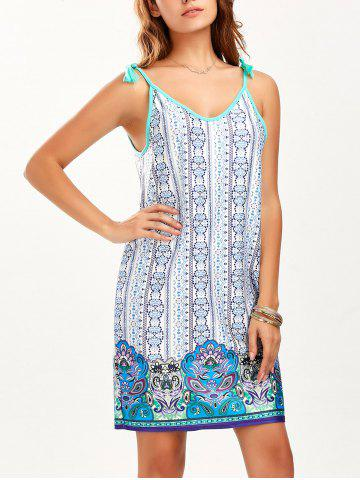 Affordable Tassel Mini Printed Summer Dress