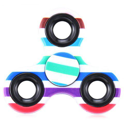 Shop EDC Fiddle Toy Triangle Striped Fidget Spinner COLORMIX