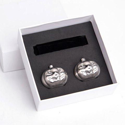 Shop Stainless Steel 2 PCS Pumpkin Ice Cubes Stone Set - STAINLESS STEEL  Mobile