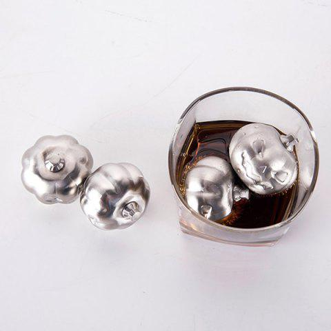 Unique Stainless Steel 2 PCS Pumpkin Ice Cubes Stone Set - STAINLESS STEEL  Mobile