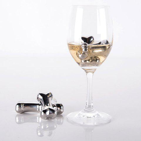 Buy 4 Pcs Stainless Steel Wine Cooling Stone Bone Shape Whiskey Ice Cubes - STAINLESS STEEL  Mobile