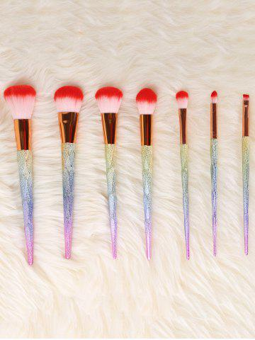New Unicorn Conical Rainbow Makeup Brushes Kit - COLORFUL  Mobile
