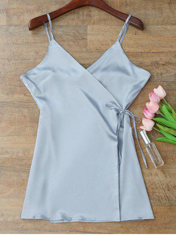 Discount Silky Cami Wrap Slip Dress