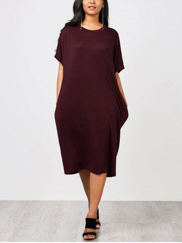 Casual Knitting Straight Midi Dress