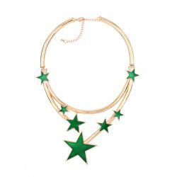 Star Alloy Statement Necklace