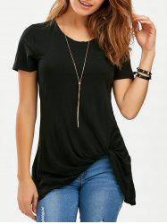 Knotted Longline T-Shirt