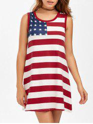 American Flag Patriotic Tunic Dress - COLORMIX