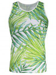 Openwork 3D Leaves Pattern Tank Top