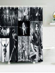 Michael Jackson Concert Print Waterproof Fabric Bath Curtain