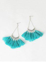 Tassel Fan-Shaped Chain Drop Earrings
