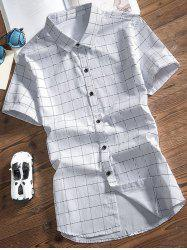 Plaid Print Short Sleeves Shirt