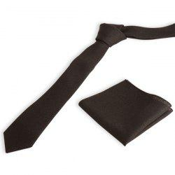 Plain Necktie Handkerchief Set