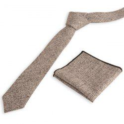 Blend Linen Grain Handkerchief Neck Tie Set