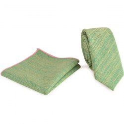 Plain Fabric Grain Tie Handkerchief Set