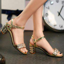 Rhinestones Metal Colour Sandals