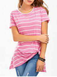 Knot Striped Longline T-Shirt
