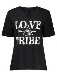 Love Tribe Graphic V Neck Tee