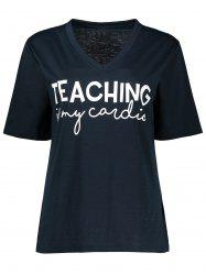 Teaching Graphic V Neck Tee