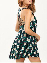 Sleeveless Floral Print Strappy Dress