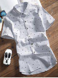 Stars Printed Turndown Collar Shirt