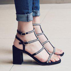 Rhinestones T Bar Sandals