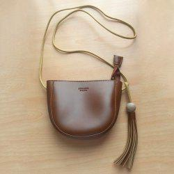 Tassel Wood Ball Crossbody Bag