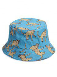 Cartoon Leopard Printing Bucket Hat