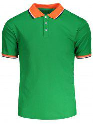 Color Block Short Sleeves Polo Shirt