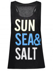Racerback Sun Sea Salt Graphic Tank Top