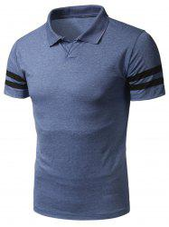 Short Sleeve Varsity Stripe Polo T-Shirt
