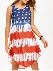 Chiffon American Flag Tank Dress - COLORMIX