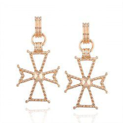 Prayer Crucifix Hoop Drop Earrings