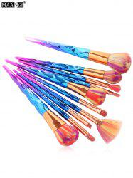 MAANGE 10Pcs Conical Gradient Color Makeup Brushes Set