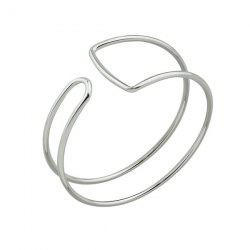 Alloy Geometric Cuff Bangle Bracelet