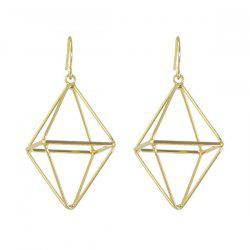 Alloy Cube Triangle Hook Drop Earrings