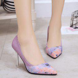 Geometric Pattern Glitter Pumps