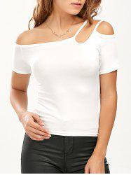 Short Sleeve Strappy Slimming Tee