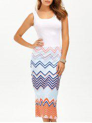 Zigzag Midi Sundress -