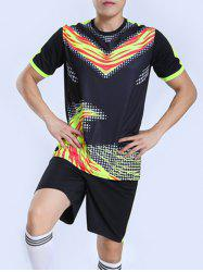 Summer High Scool Printed Soccer Football Jersey Set