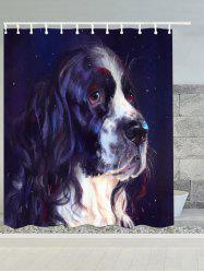Long Haired Dog Print Bathroom Waterproof Bath Curtain