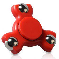 Triangle Ball Bearing Fidget Spinner - RED