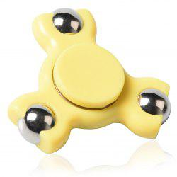 Triangle Ball Bearing Fidget Spinner - YELLOW