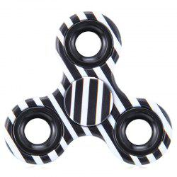EDC Fiddle Toy Triangle Striped Fidget Spinner