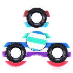 EDC Fiddle Toy Triangle Striped Fidget Spinner - COLORMIX